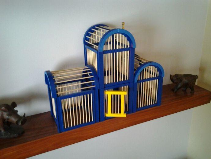 竹签鸟笼模型