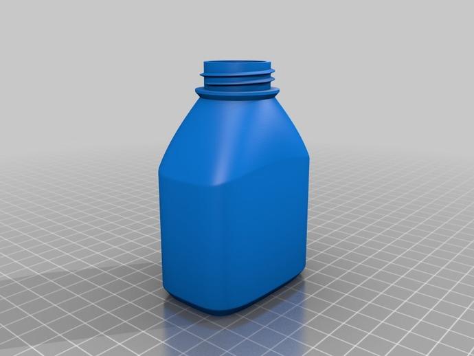 3D打印的瓶子瓶盖模型