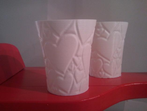 情人节水杯模型 3D打印模型渲染图
