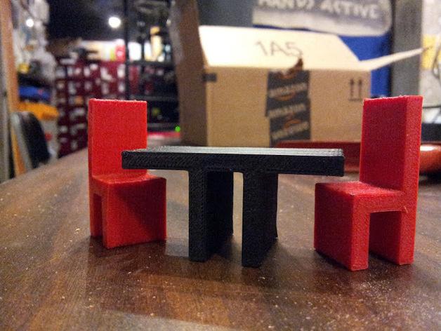 迷你座椅模型 3D打印模型渲染图