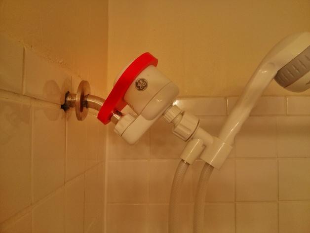 通用淋浴设备固定器 3D打印模型渲染图