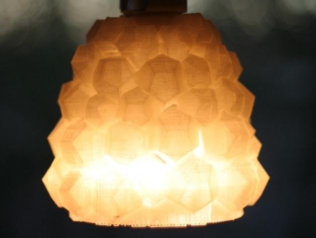 迷你几何形灯罩模型02 3D打印模型渲染图