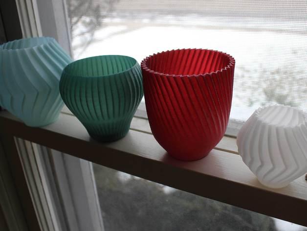 锯齿形花瓶模型 3D打印模型渲染图