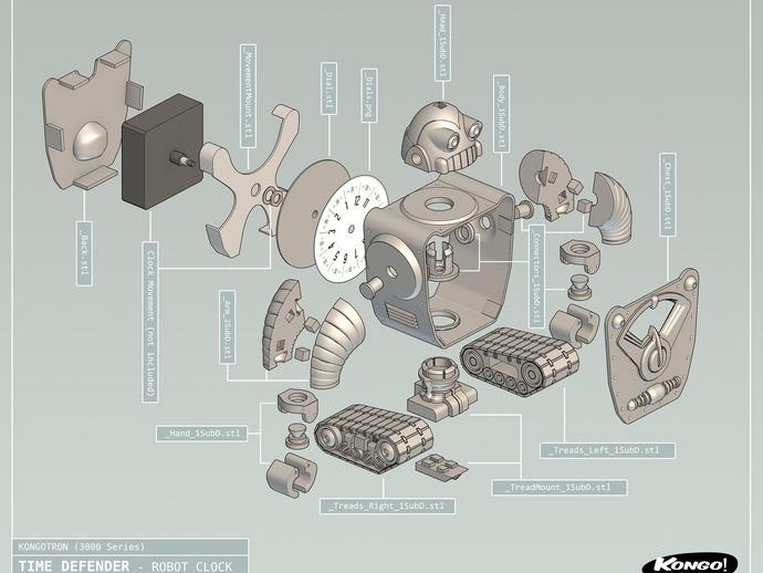 时间守护者:机器人时钟