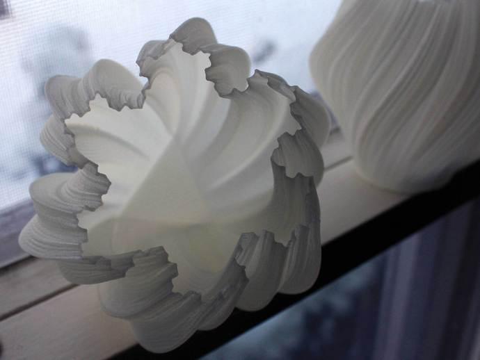 不规则六边形花瓶模型