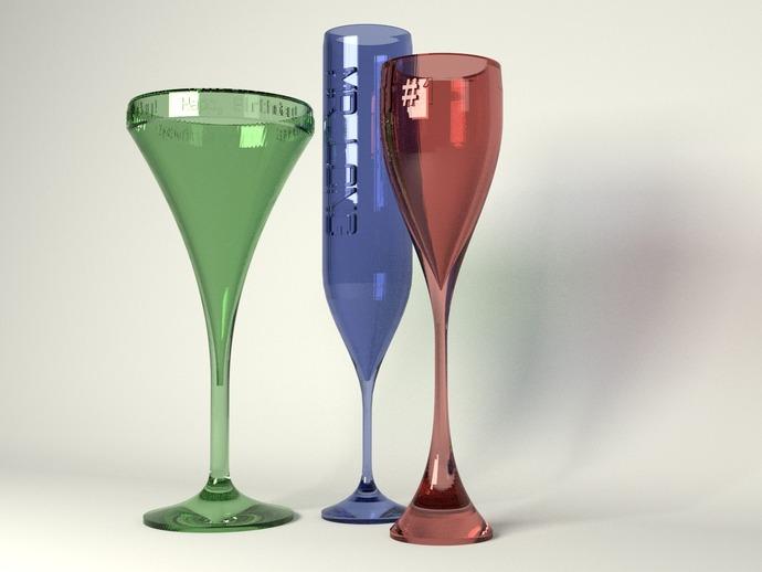 酒杯 3D打印模型渲染图
