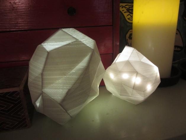 几何形灯罩模型 3D打印模型渲染图