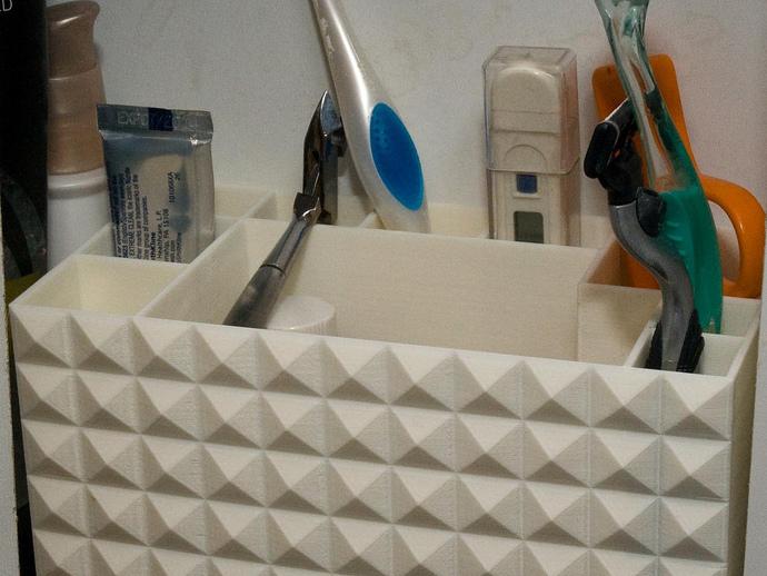 多功能牙刷盒模型