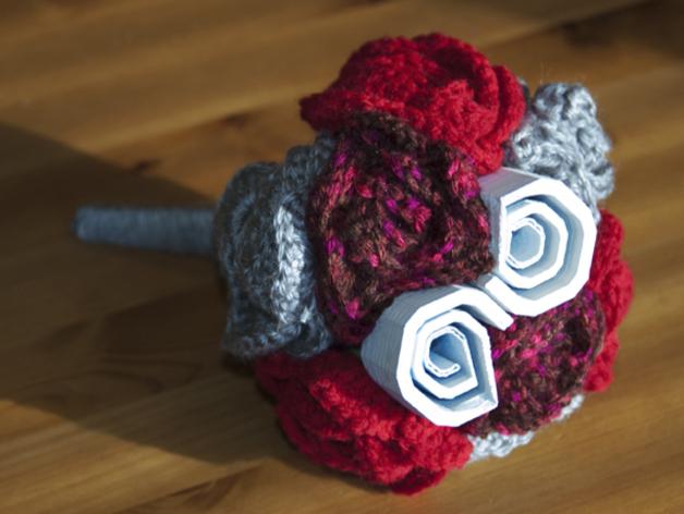 数字化玫瑰模型 3D打印模型渲染图
