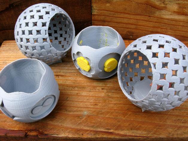 圆形容器模型 3D打印模型渲染图