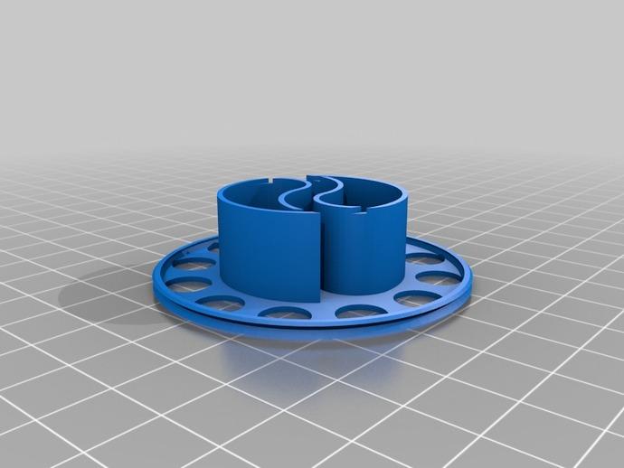 阴阳电缆线轴模型