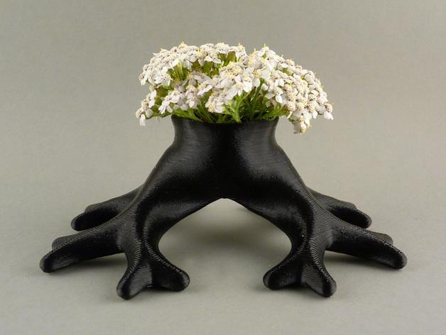 树根花瓶/花盆模型 3D打印模型渲染图