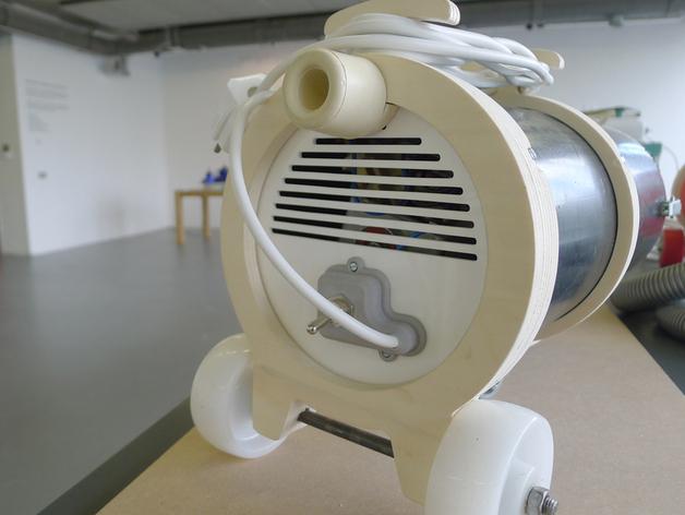吸尘器后罩模型 3D打印模型渲染图