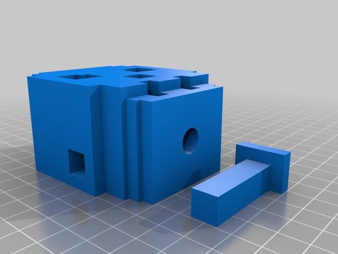骷髅头形多功能盒模型