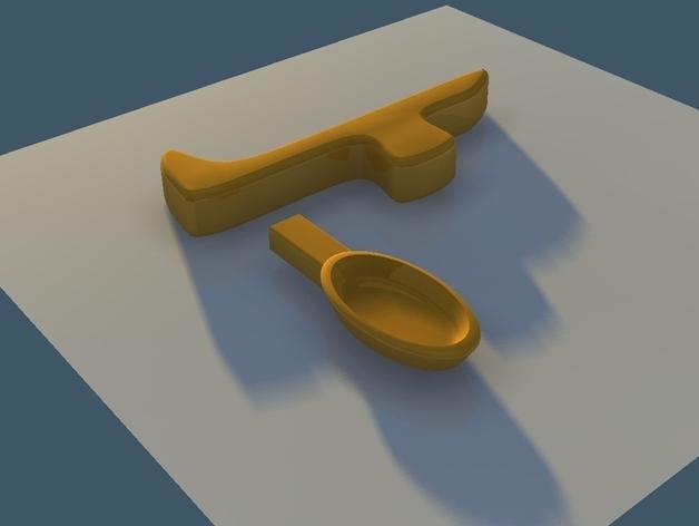 直角形汤匙模型