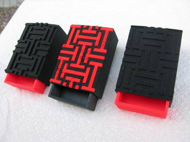 迷你装饰盒模型 3D打印模型渲染图