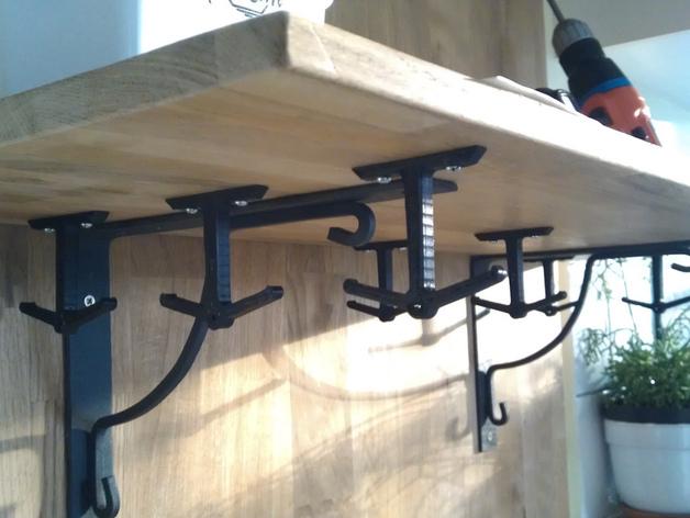 放置厨房用具吊钩模型
