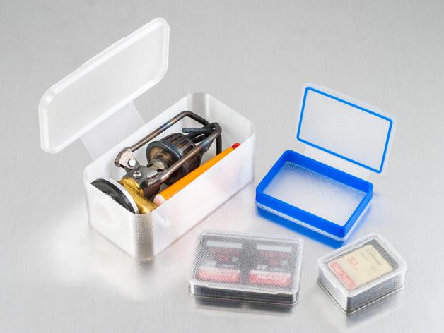 长方形可定制化盒子 3D打印模型渲染图