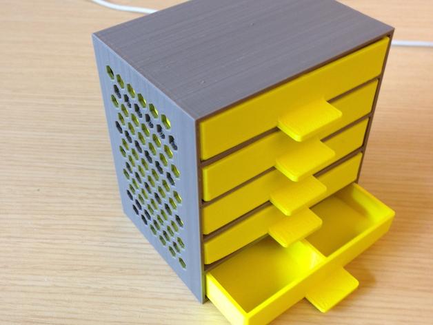 定制化抽屉模型 3D打印模型渲染图