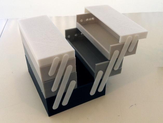 可折叠工具箱模型