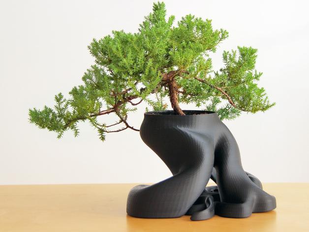 美观实用花盆模型 3D打印模型渲染图