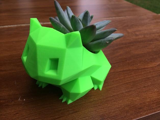 妙蛙种子花盆模型