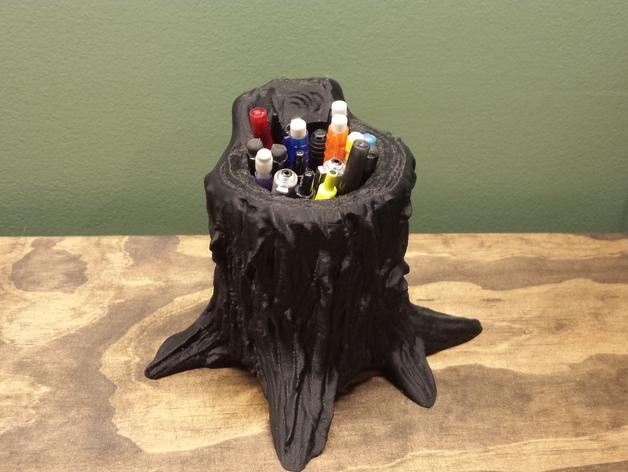 树桩笔筒模型 3D打印模型渲染图