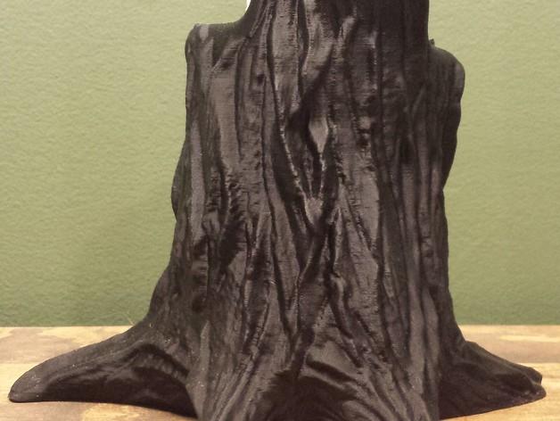 树桩笔筒模型