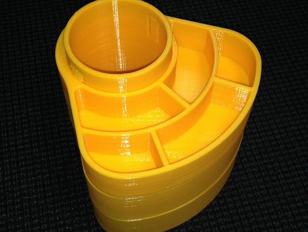 办公用品收纳盒模型