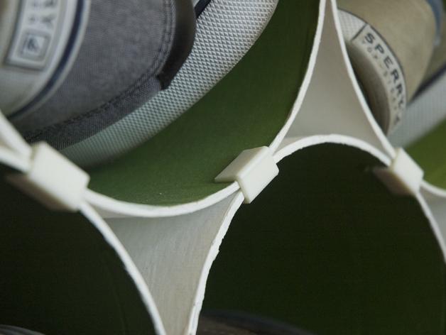 可延展的鞋柜模型