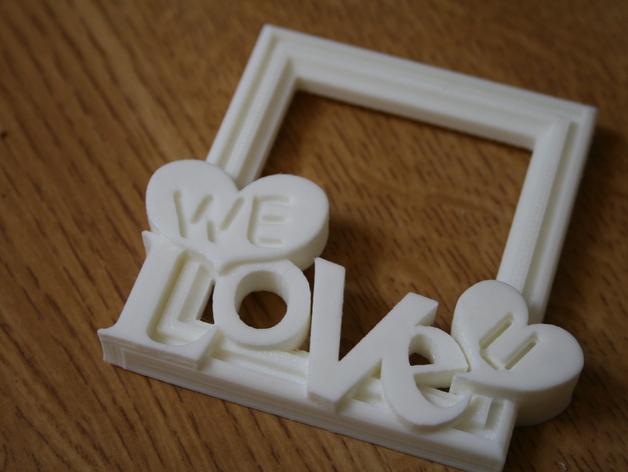 迷你相框模型 3D打印模型渲染图