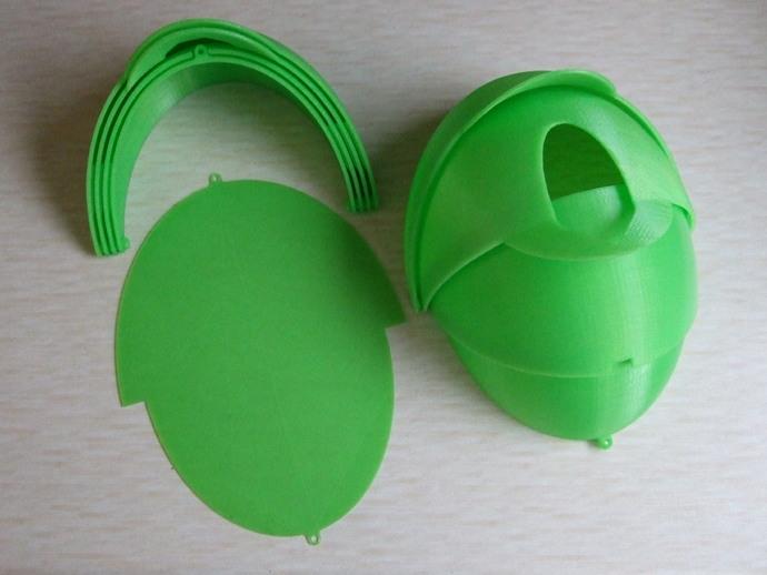 内嵌式鸟笼模型 3D打印模型渲染图