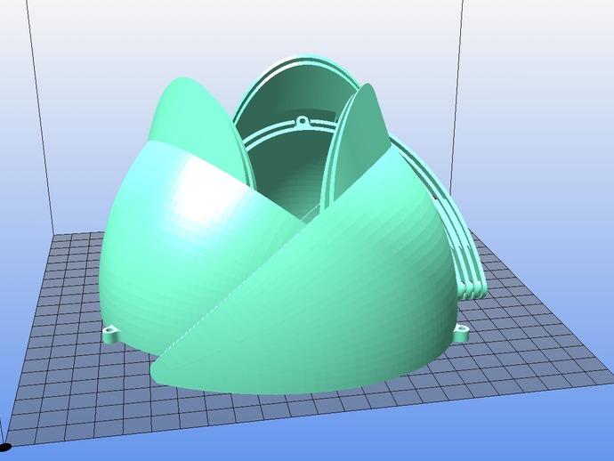 内嵌式鸟笼模型