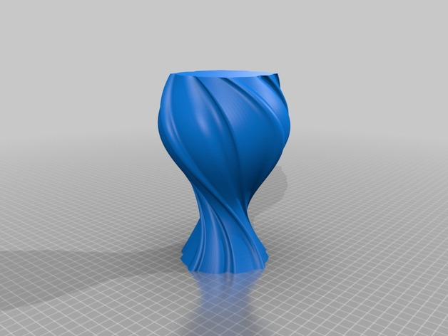 几何形花瓶模型