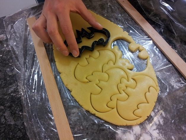 蝙蝠形饼干切割刀模型