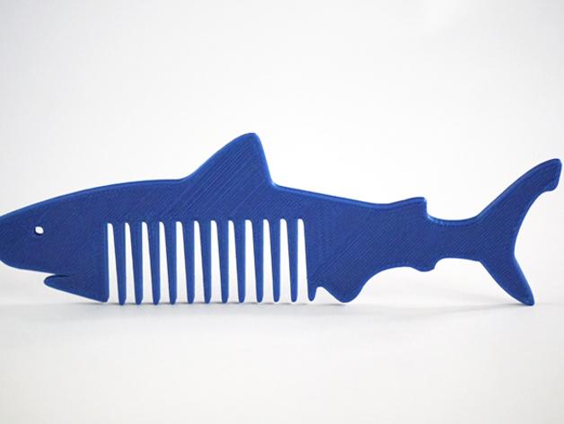 鲨鱼形梳子模型