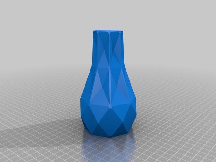 几何形橙色花瓶模型