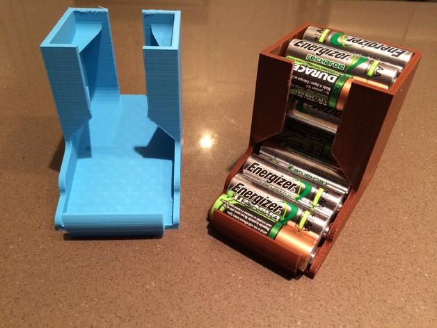 桌面电池盒模型 3D打印模型渲染图