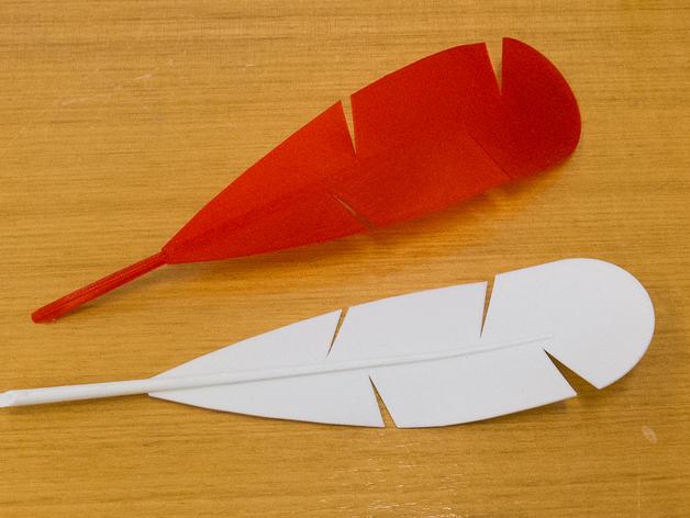 迷你羽毛笔模型 3D打印模型渲染图