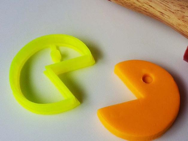 吃豆人饼模型切割刀 3D打印模型渲染图