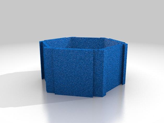 六边形桌面规整架