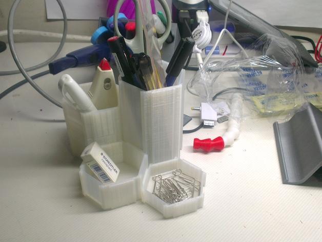六边形桌面规整架 3D打印模型渲染图