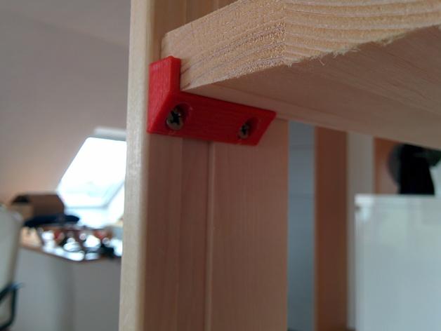 搁板固定夹 -- 可用来固定木板 3D打印模型渲染图