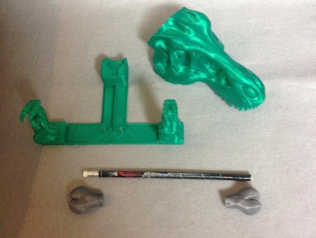 恐龙形浴室用品四件套