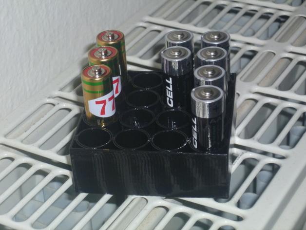 AA电池电池盒 3D打印模型渲染图