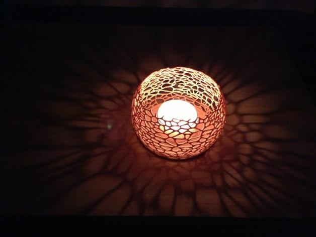 镂空蜡烛固定装置