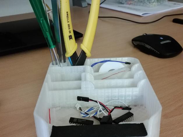桌面式工具箱 3D打印模型渲染图