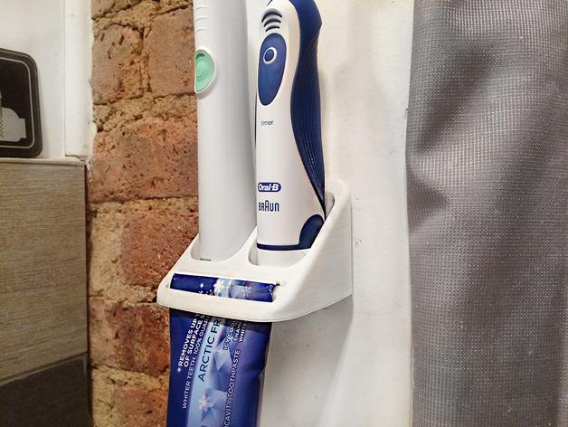 牙刷/牙膏固定架