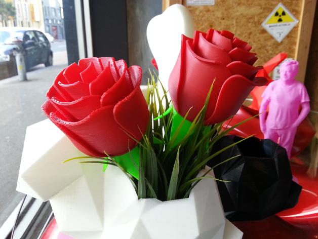 迷你玫瑰模型 3D打印模型渲染图