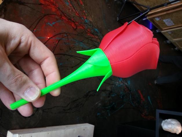迷你玫瑰模型